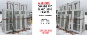 ANNONCE CHASSIS BLANC PVC