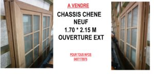 ANNONCE CHASSIS CHENE